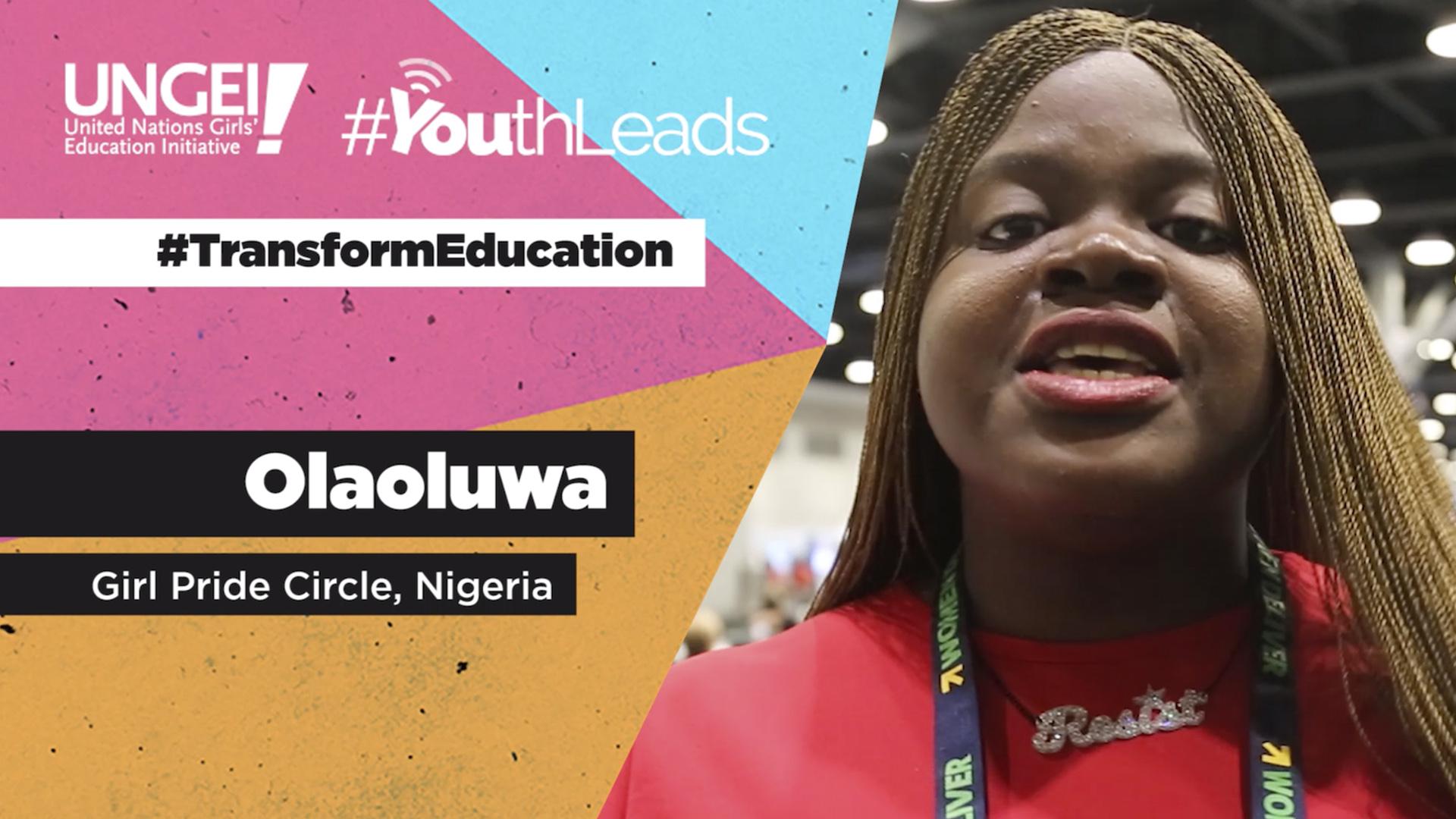 Olaoluwa, Girl Pride Circle, Nigeria