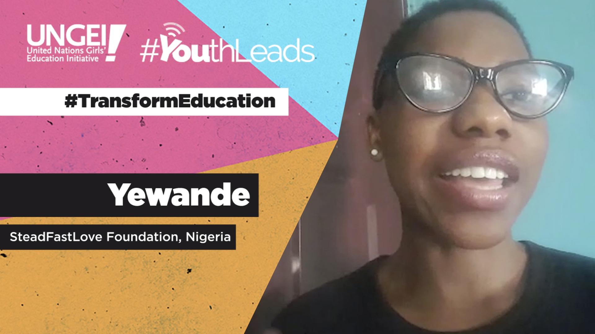 Yewande, SteadFastLove Foundation, Nigeria