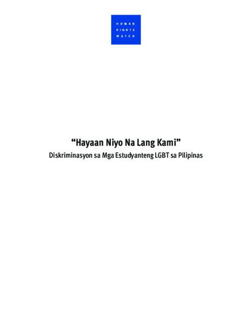 """""""Hayaan Niyo Na Lang Kami"""""""