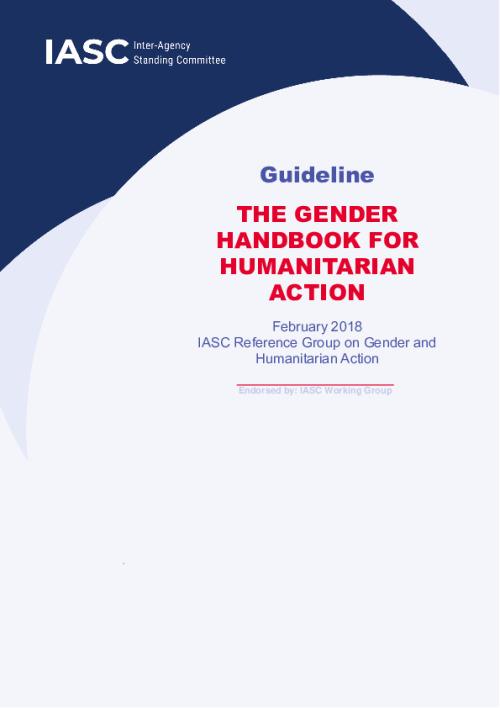 Guideline: The Gender Handbook for Humanitarian Action