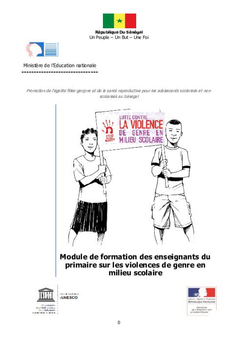 Promotion de l'égalité filles-garçons et de la santé reproductive pour les adolescents scolarisés et non-scolarisés au Sénégal
